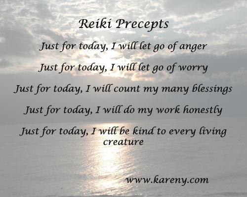 what is reiki precepts copy