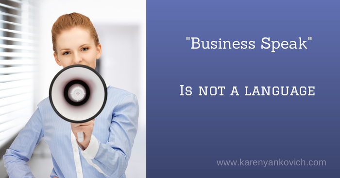Business Speak is NOT a Language