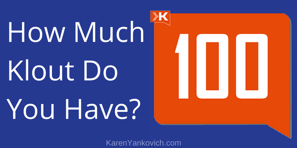 How Much Klout Do You Have?