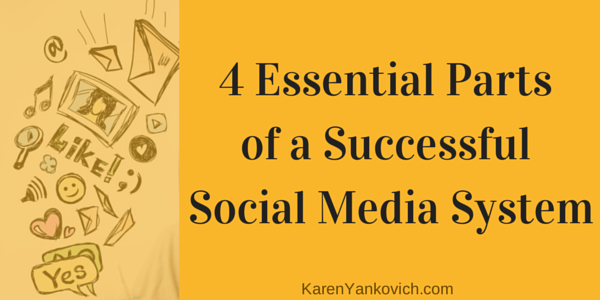 Your Successful Social Media System Must Contain 4 Essential Parts