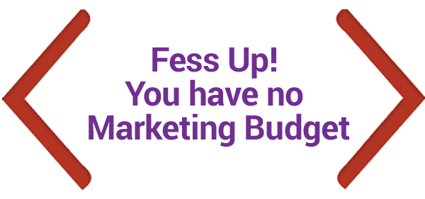 Karen Yankovich | Fess Up!  You Have No Marketing Budget 1
