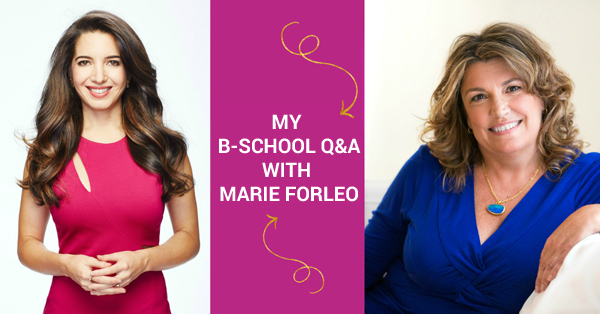 My B-School Q&A With Marie Forleo