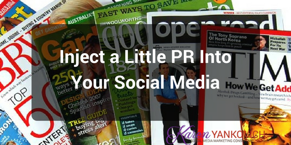 inject PR into social media