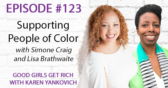 123 – Supporting People of Color with Lisa and Simone